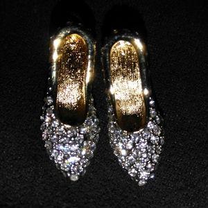 Vintage Barbi high Heels Swarovski crystal studded